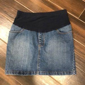Motherhood Maternity Small jean miniskirt